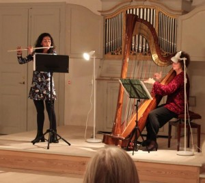 Harpe og fløjte (Sydd.Un.K 3)